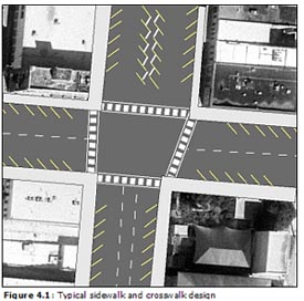Figure 4.1: Typical sidewalk and crosswalk design