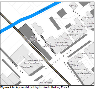 Figure 4.8: A potential parking lot site in Parking Zone 2