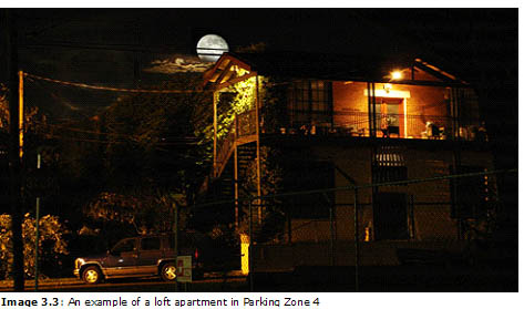 Image 3.3: An example of a loft apartment in Parking Zone 4
