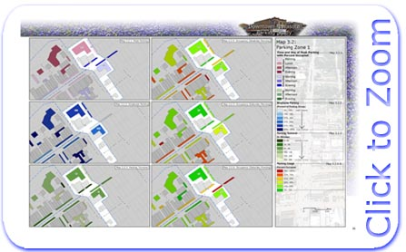 Downtown Navasota Parking Statistics Map for Parking Zone 1
