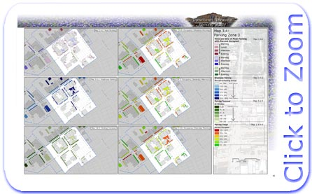 Downtown Navasota Parking Statistics Map for Parking Zone 3
